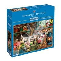 Snoozing in the Shed - 1000 Pieces |Gibsons Jigsaws